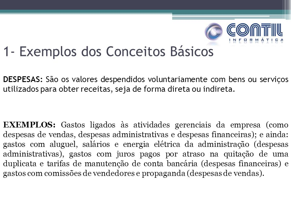 1- Exemplos dos Conceitos Básicos