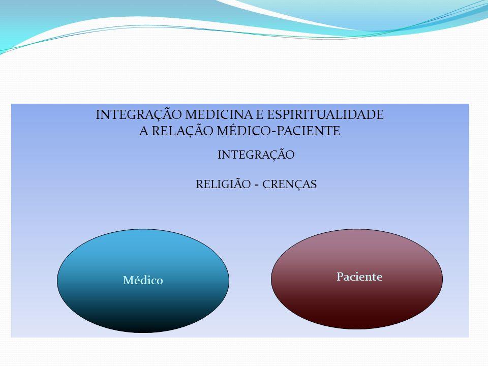 INTEGRAÇÃO MEDICINA E ESPIRITUALIDADE A RELAÇÃO MÉDICO-PACIENTE