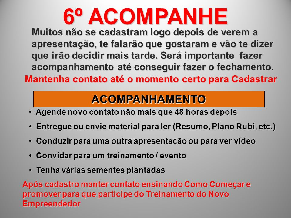 6º ACOMPANHE ACOMPANHAMENTO