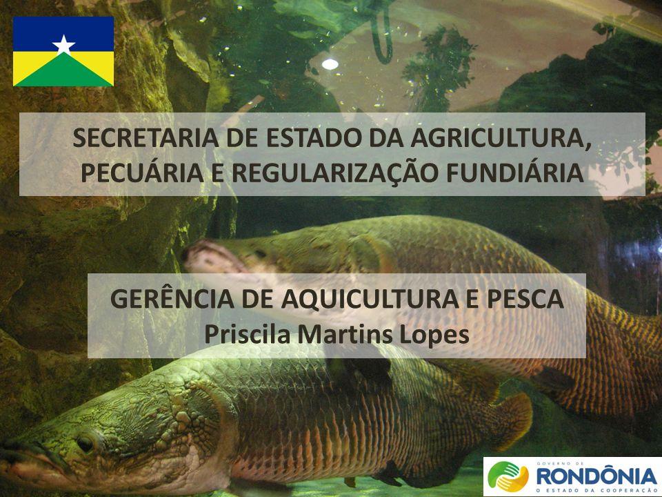GERÊNCIA DE AQUICULTURA E PESCA Priscila Martins Lopes