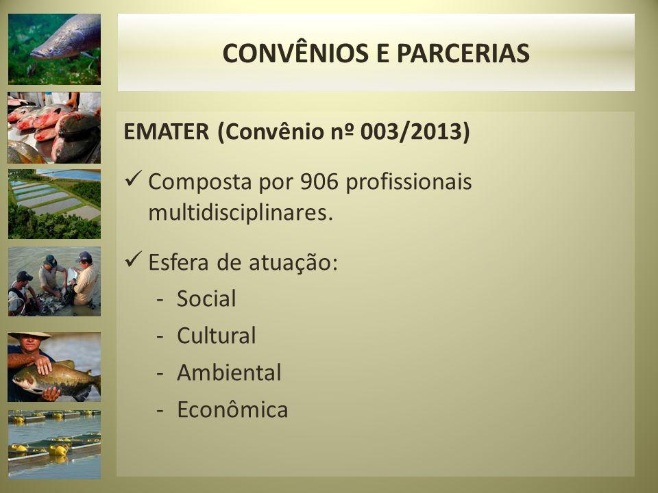 CONVÊNIOS E PARCERIAS EMATER (Convênio nº 003/2013)