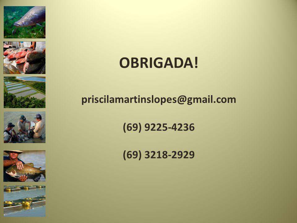 OBRIGADA! priscilamartinslopes@gmail.com (69) 9225-4236 (69) 3218-2929