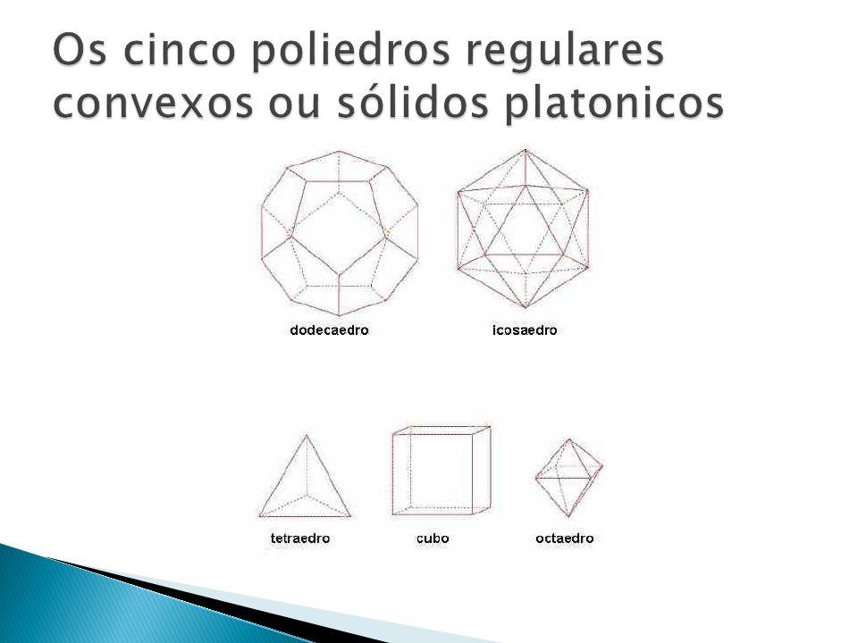 Os cinco poliedros regulares convexos ou sólidos platonicos
