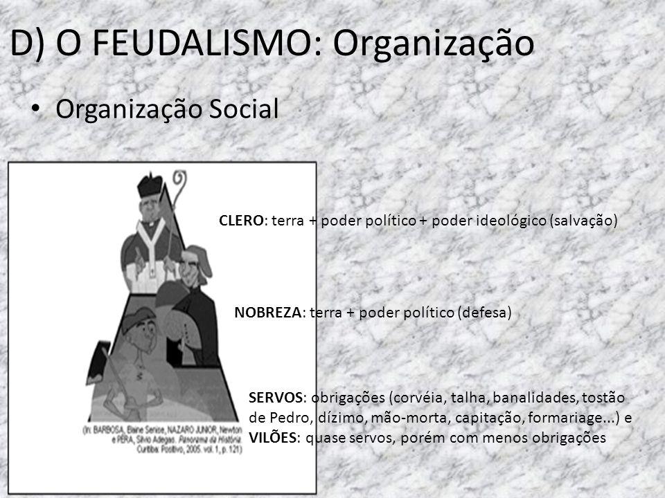 D) O FEUDALISMO: Organização