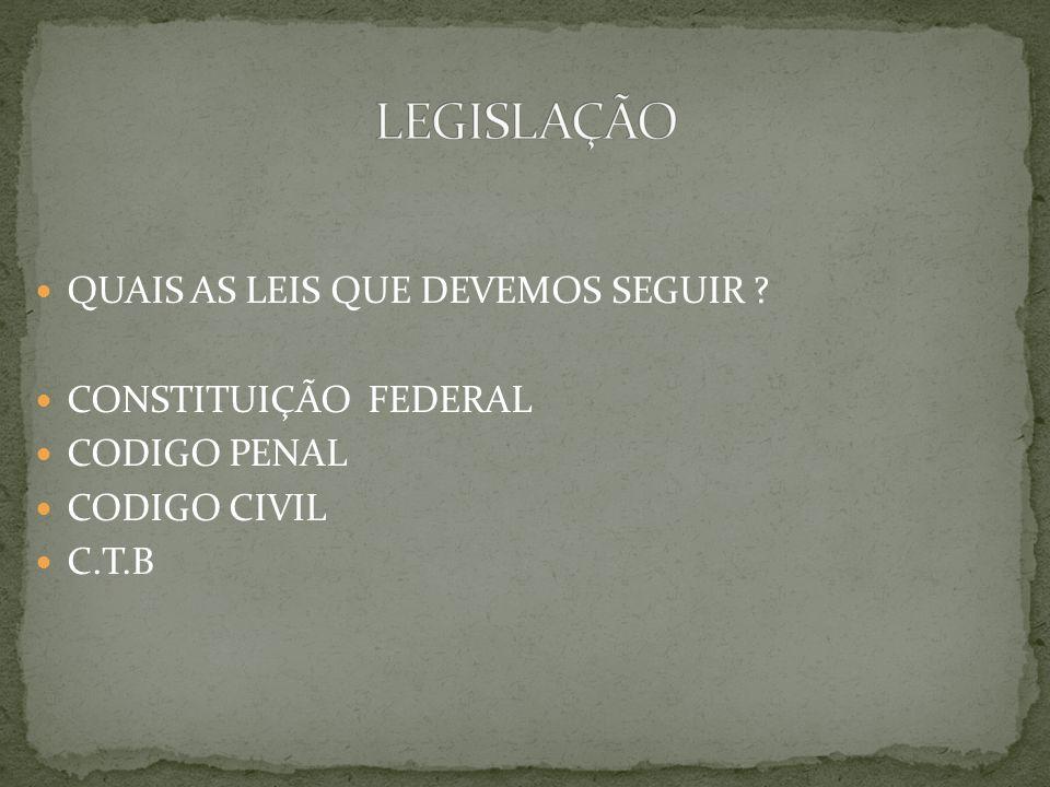 LEGISLAÇÃO QUAIS AS LEIS QUE DEVEMOS SEGUIR CONSTITUIÇÃO FEDERAL