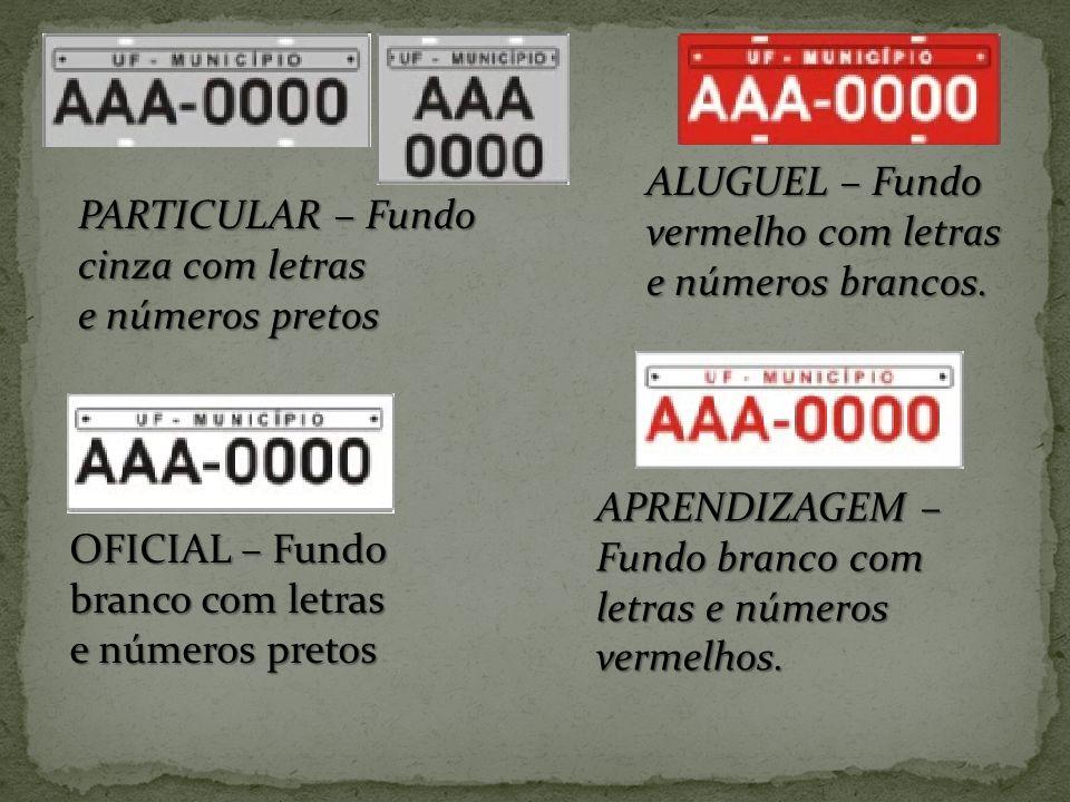 ALUGUEL – Fundo vermelho com letras e números brancos.