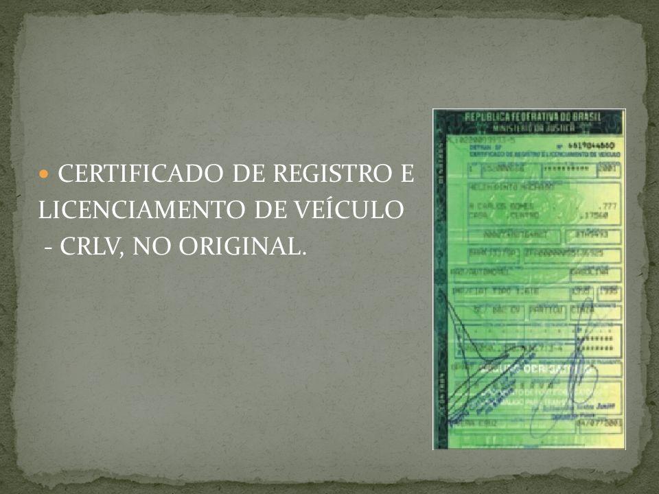 CERTIFICADO DE REGISTRO E