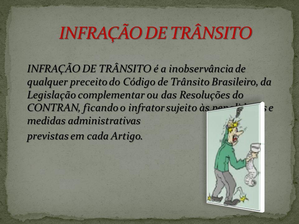 INFRAÇÃO DE TRÂNSITO