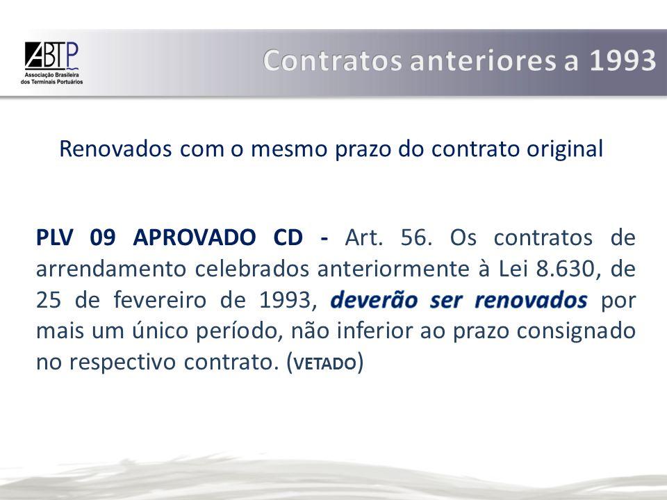 Contratos anteriores a 1993