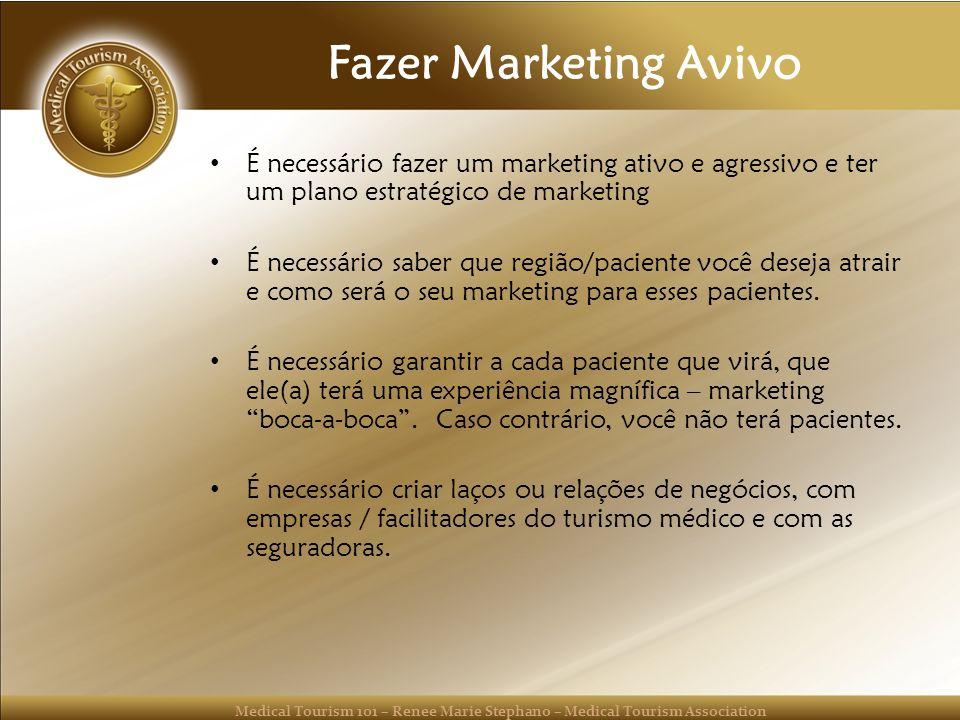 Fazer Marketing Avivo É necessário fazer um marketing ativo e agressivo e ter um plano estratégico de marketing.