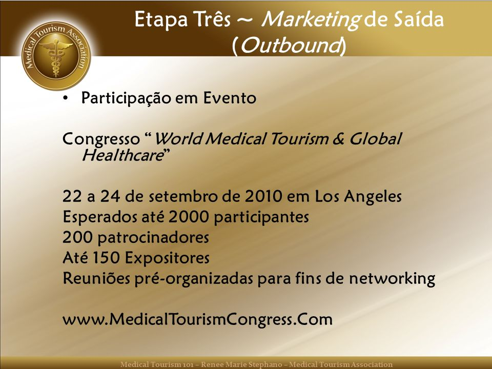 Etapa Três ~ Marketing de Saída (Outbound)