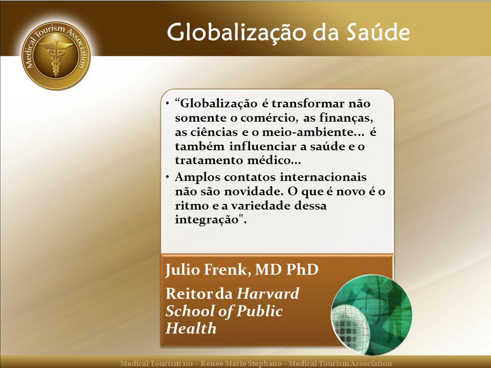 Globalização da Saúde Reitor da Harvard School of Public Health