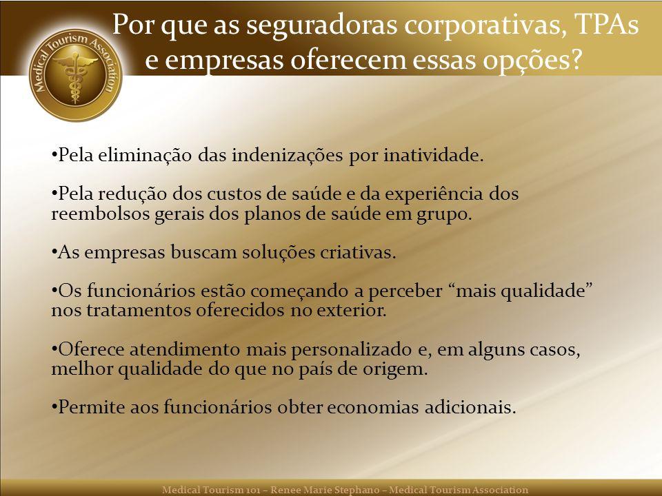 Por que as seguradoras corporativas, TPAs e empresas oferecem essas opções