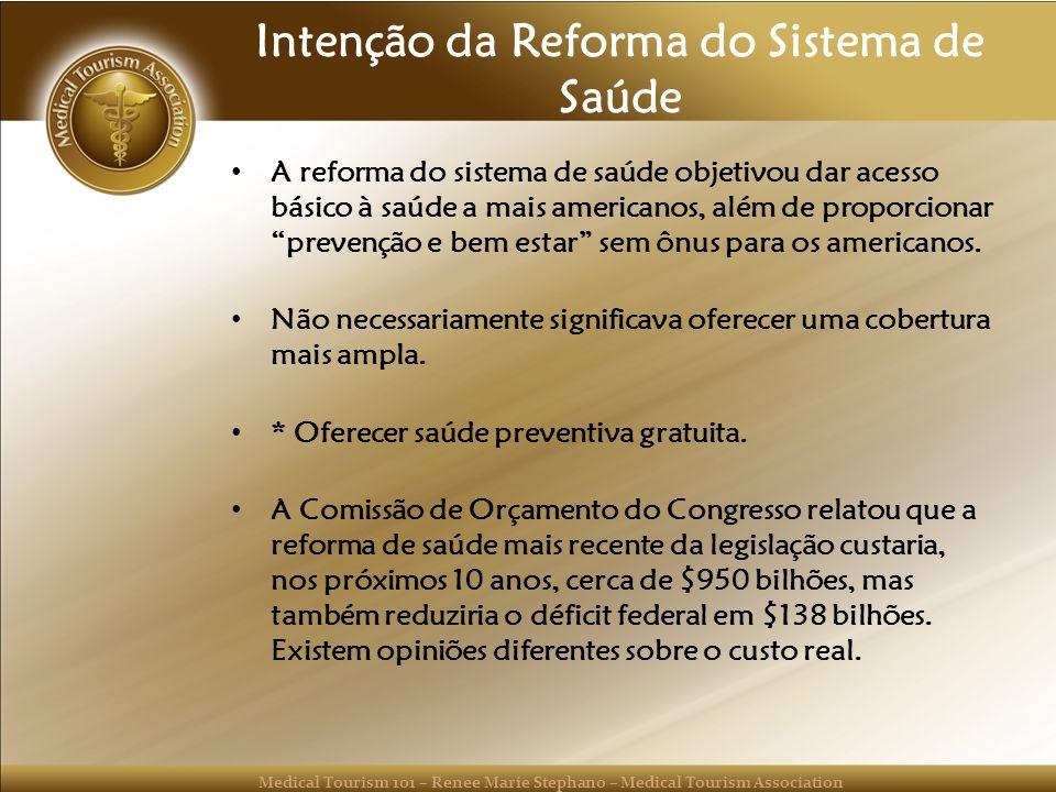 Intenção da Reforma do Sistema de Saúde