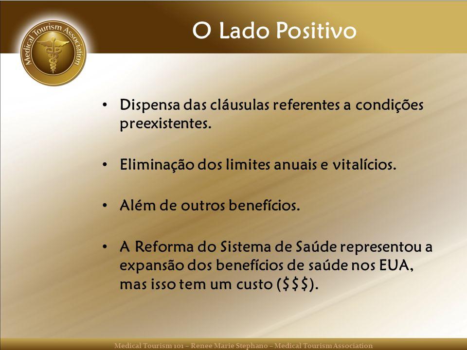 O Lado Positivo Dispensa das cláusulas referentes a condições preexistentes. Eliminação dos limites anuais e vitalícios.