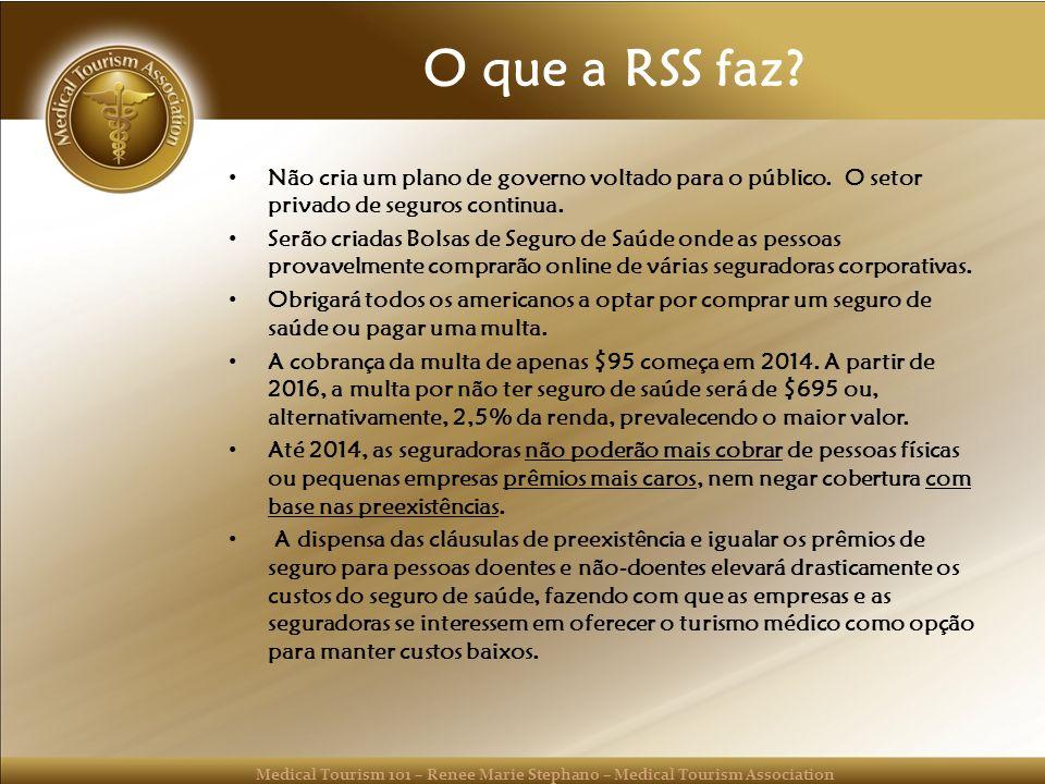 O que a RSS faz Não cria um plano de governo voltado para o público. O setor privado de seguros continua.