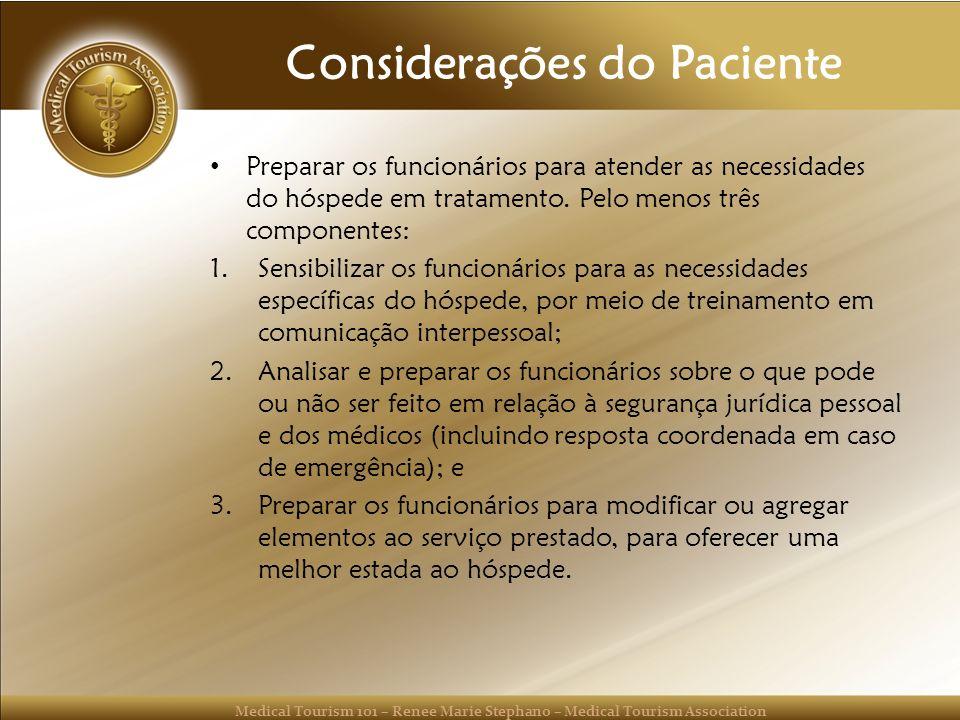 Considerações do Paciente
