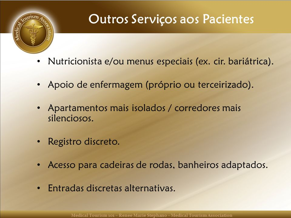 Outros Serviços aos Pacientes