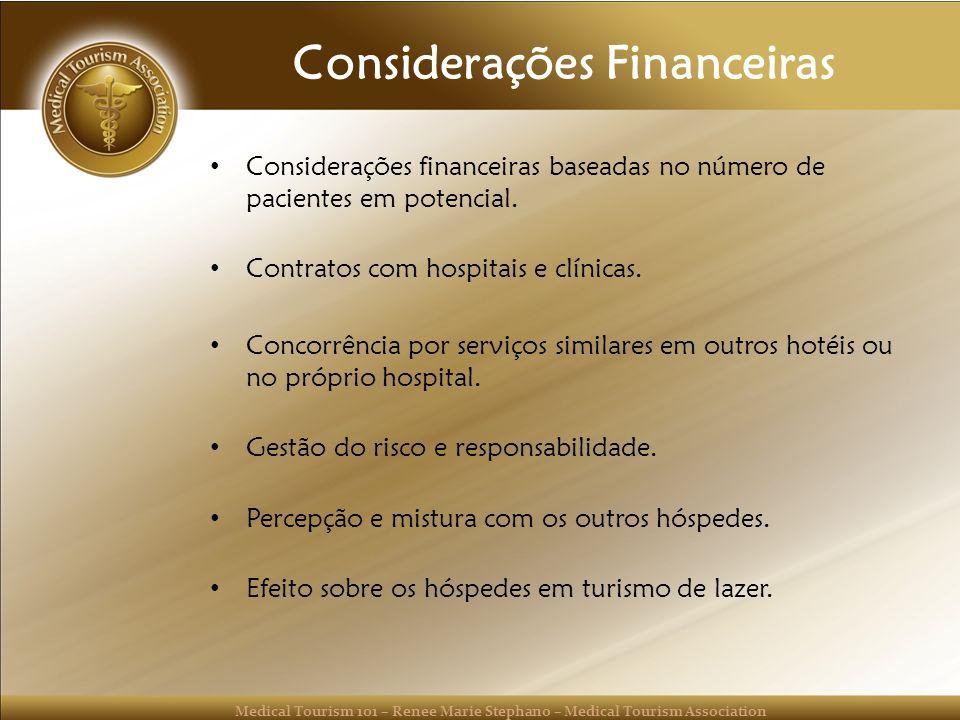 Considerações Financeiras