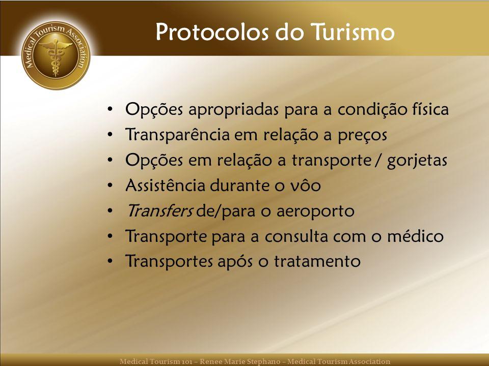 Protocolos do Turismo Opções apropriadas para a condição física
