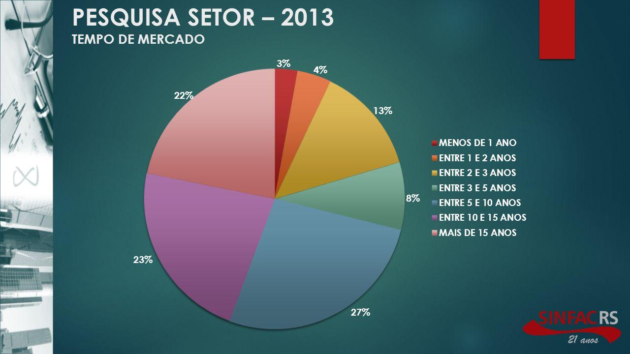 PESQUISA SETOR – 2013 TEMPO DE MERCADO