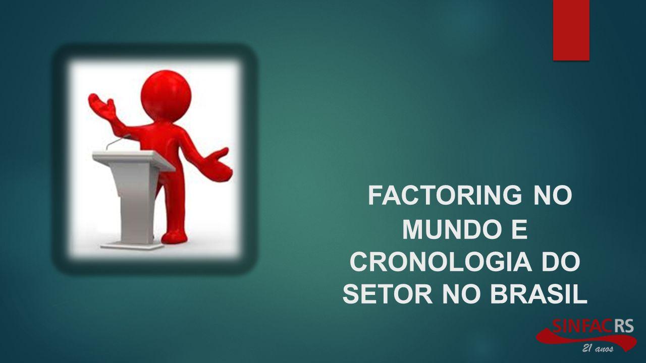 FACTORING NO MUNDO E CRONOLOGIA DO SETOR NO BRASIL