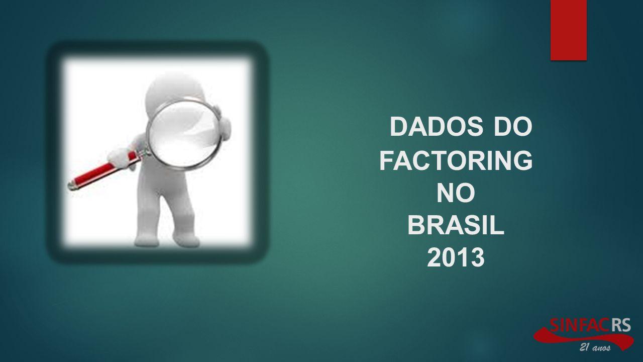 DADOS DO FACTORING NO BRASIL 2013