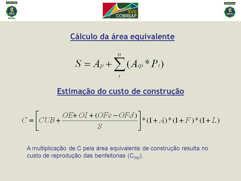 Cálculo da área equivalente