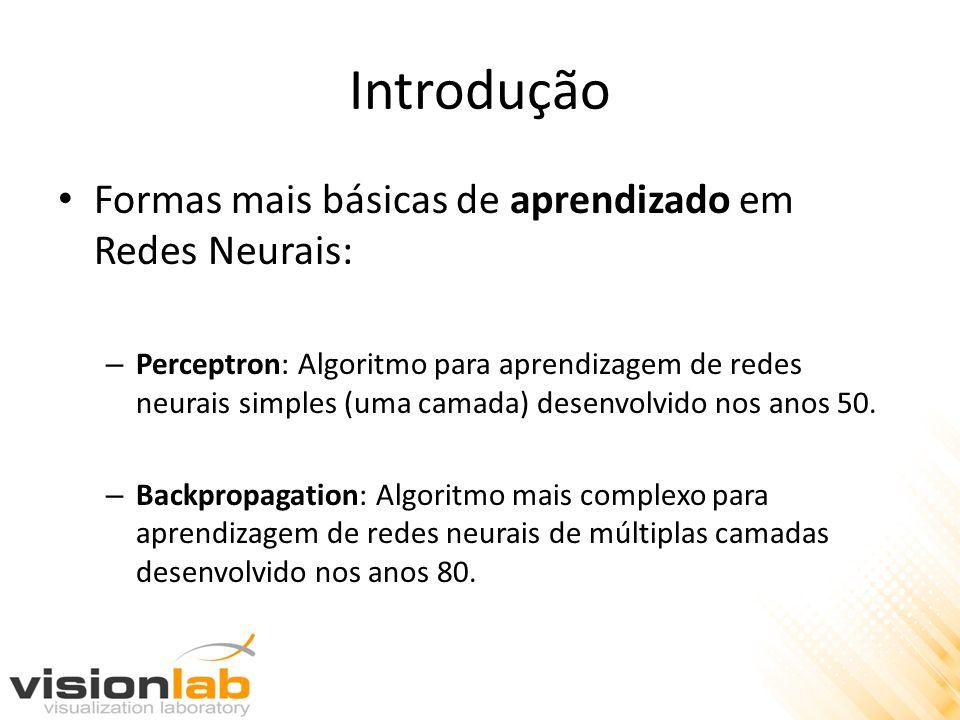 Introdução Formas mais básicas de aprendizado em Redes Neurais: