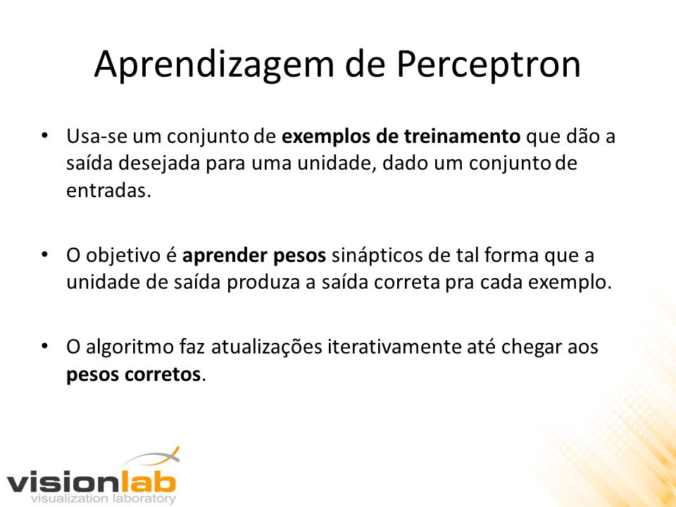 Aprendizagem de Perceptron