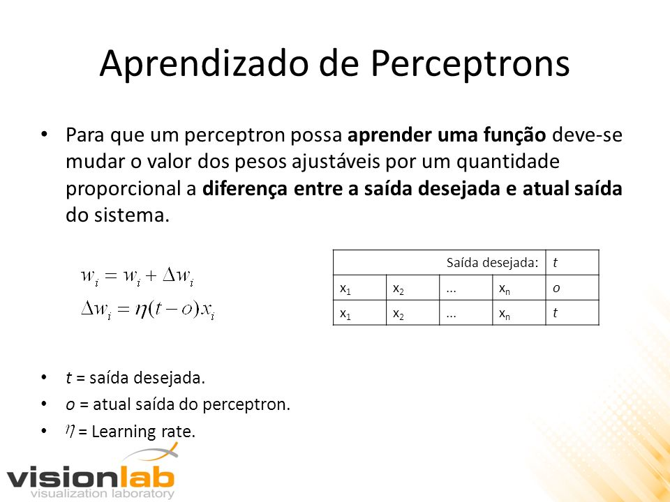 Aprendizado de Perceptrons