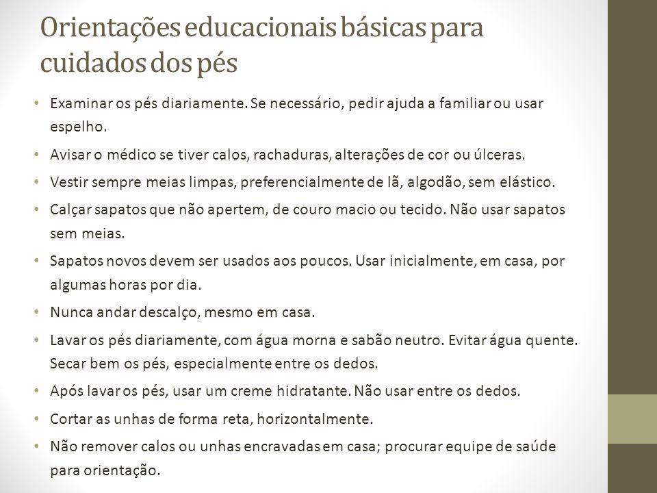 Orientações educacionais básicas para cuidados dos pés