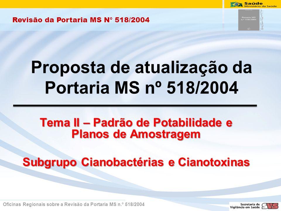 Proposta de atualização da Portaria MS nº 518/2004