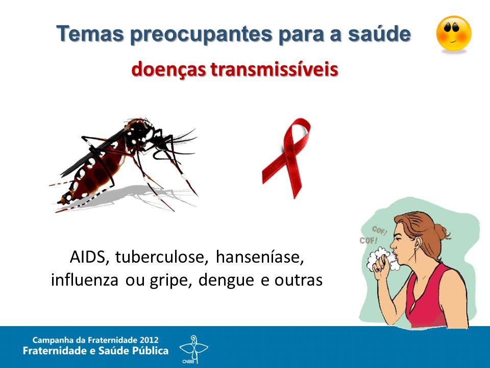 Temas preocupantes para a saúde doenças transmissíveis