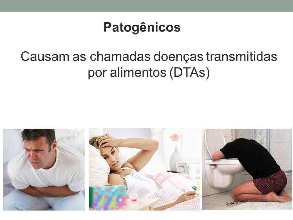Causam as chamadas doenças transmitidas por alimentos (DTAs)