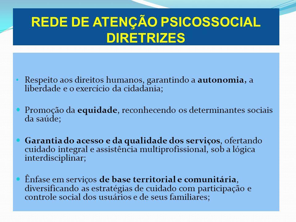 REDE DE ATENÇÃO PSICOSSOCIAL DIRETRIZES