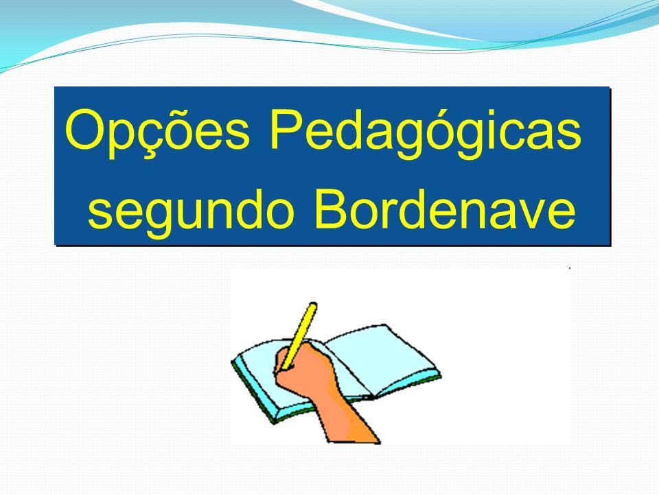 Opções Pedagógicas segundo Bordenave