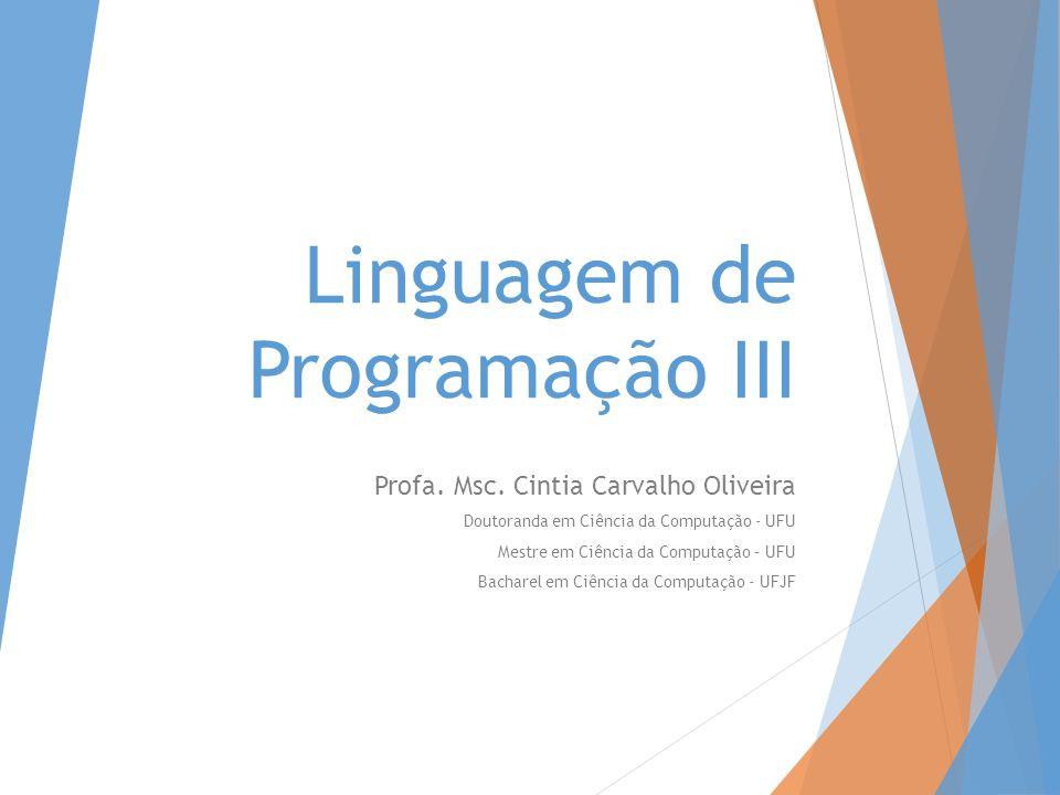 Linguagem de Programação III
