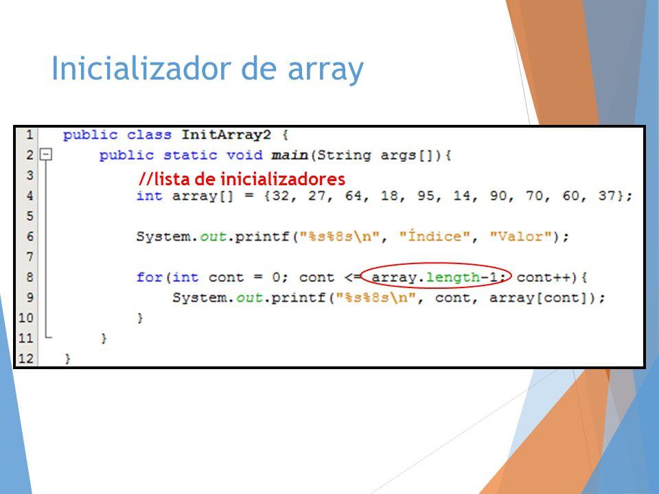 Inicializador de array