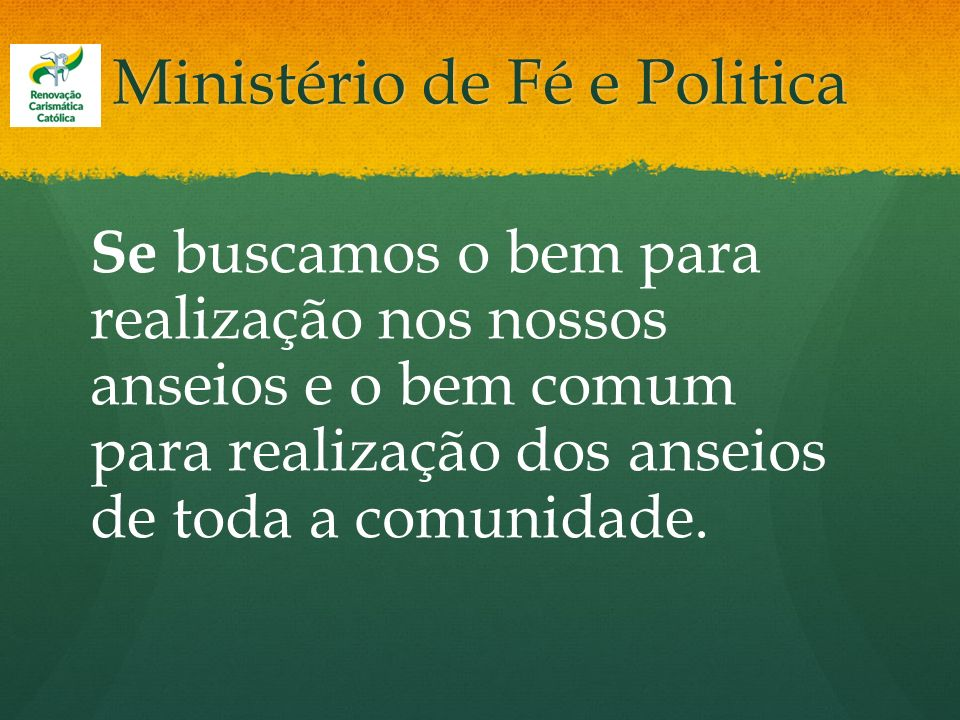 Ministério de Fé e Politica