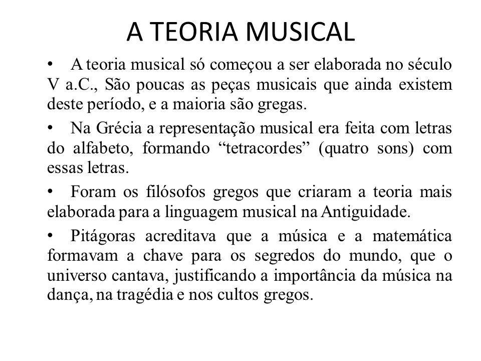 A TEORIA MUSICAL