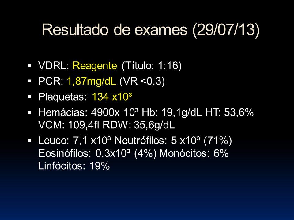 Resultado de exames (29/07/13)