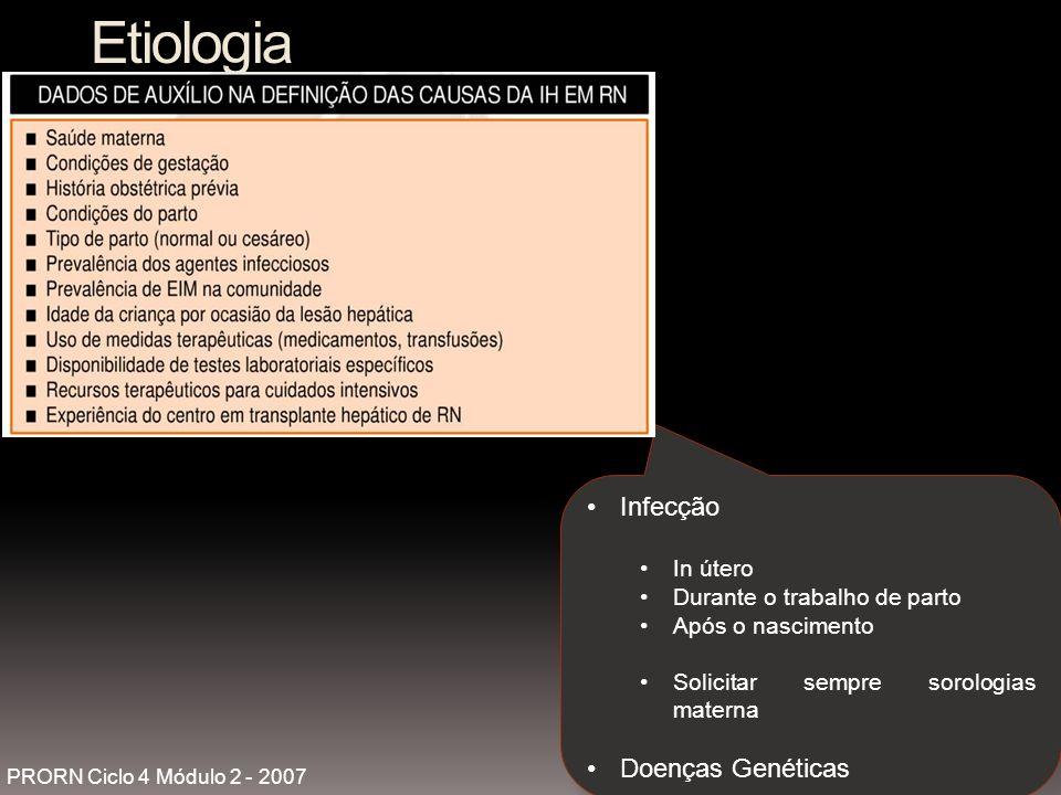 Etiologia Infecção Doenças Genéticas In útero