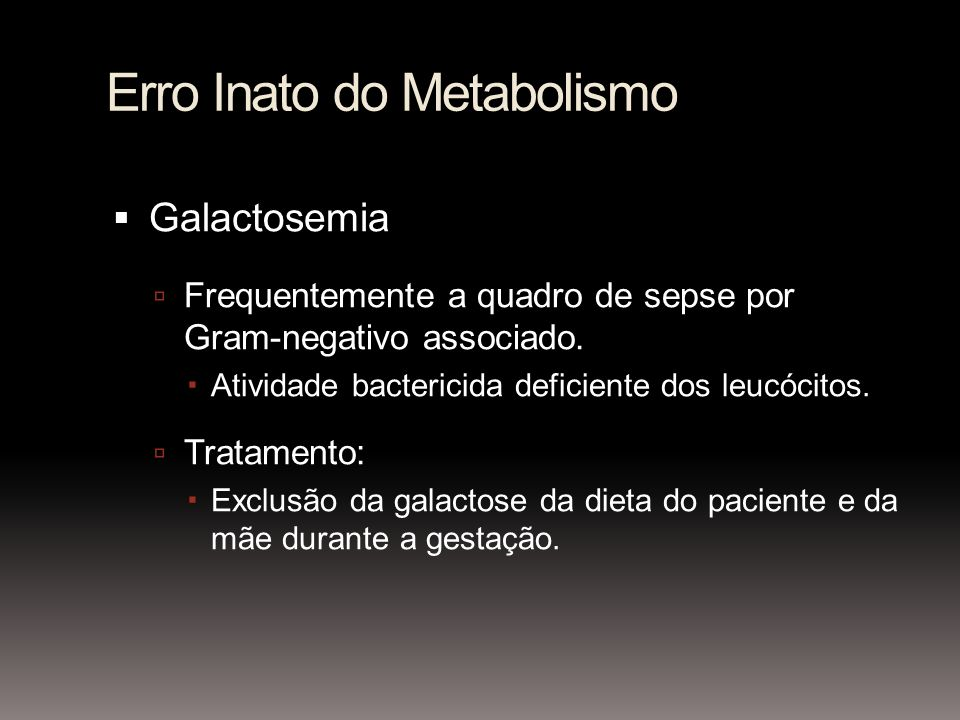 Erro Inato do Metabolismo