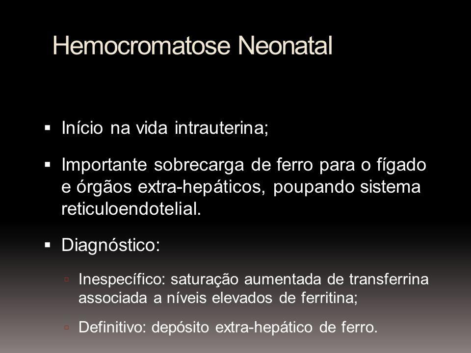Hemocromatose Neonatal