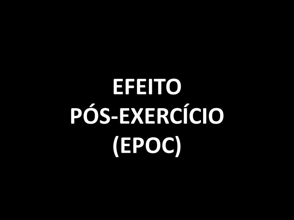 EFEITO PÓS-EXERCÍCIO (EPOC)