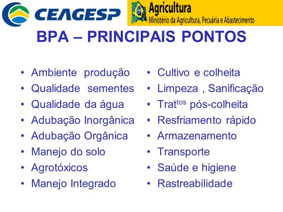BPA – PRINCIPAIS PONTOS