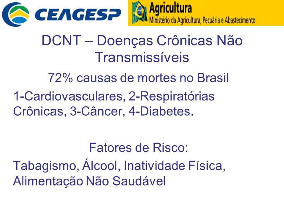 DCNT – Doenças Crônicas Não Transmissíveis