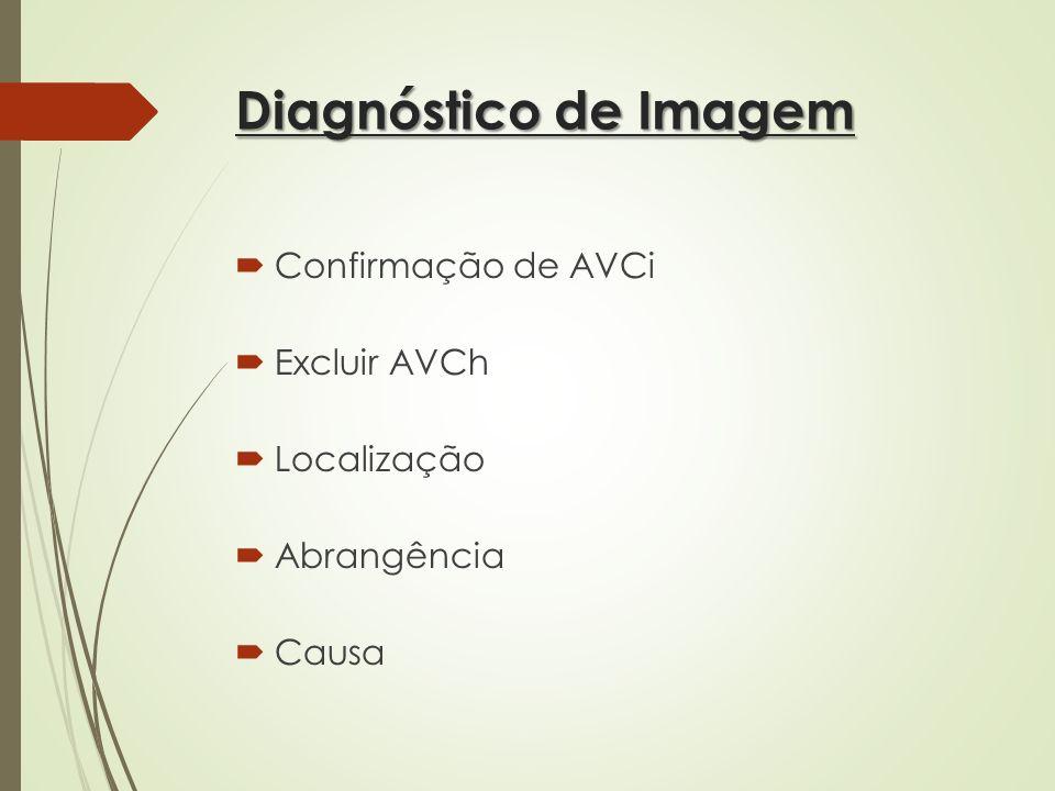 Diagnóstico de Imagem Confirmação de AVCi Excluir AVCh Localização
