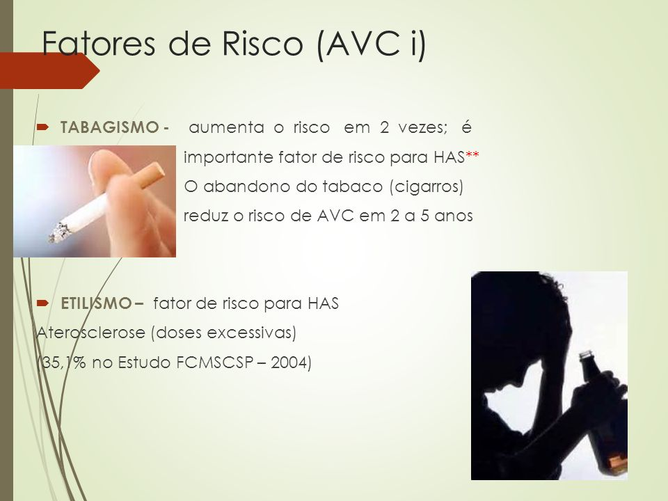 Fatores de Risco (AVC i)